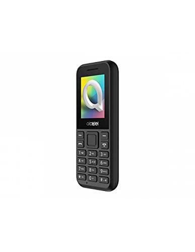 """Alcatel 1066D - Telefono móvil de fácil uso, Pantalla de 1.8"""" QQVGA, 2G, cámara trasera CIF, 4MB de RAM, 4MB de ROM, batería 400mAh (Negro)"""