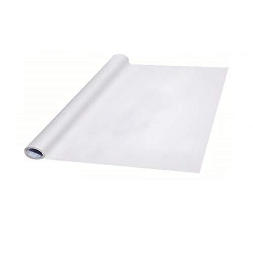 LHKJ Pizarra Blanca de Vinilo, Rollo de Papel Adhesivo Blanco para Pizarra, 45cmx200cm