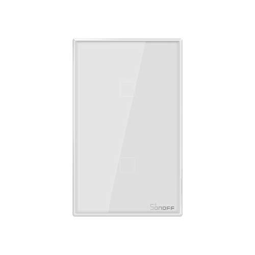 SONOFF T0US2C Interruttore Intelligente Luce Wireless WiFi da Muro, Interruttore a 2 Canali per Soluzioni di Automazione della Casa Intelligente, è Compatibile con Alexa, Google Home(1-way)