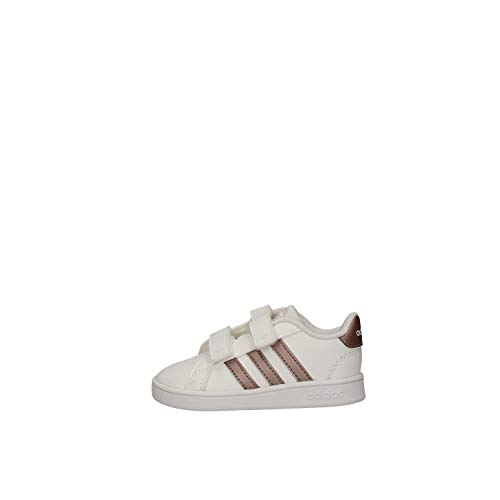 adidas Grand Court I, Zapatillas de Estar por casa, Multicolor Ftwwht Coppmt Glopnk 000, 25 EU