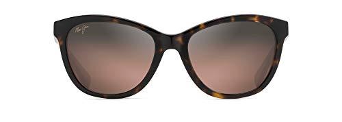 Maui Jim Women's Canna Reader Cat-Eye Reading Sunglasses, Dark Tortoise/Maui Rose Polarized, Small + 2