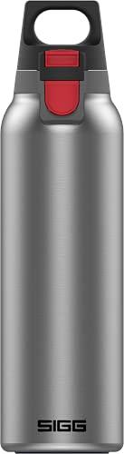 SIGG Hot & Cold ONE Light Brushed Botella térmica (0.55 L), termo hermético sin sustancias nocivas, cantimplora térmica de acero inoxidable 18/8 para uso con una mano