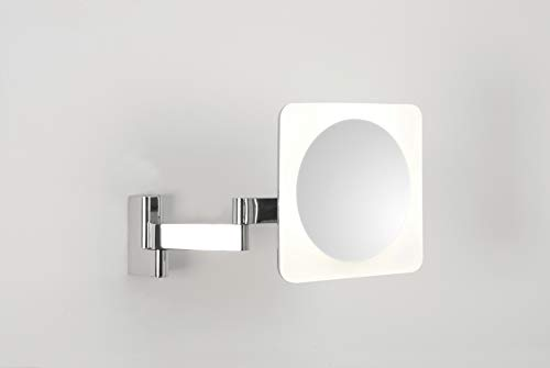 Astro 0815 Niimi Eckiger Beleuchteter Spiegel, inkl. 4x 1W LED, Chrom