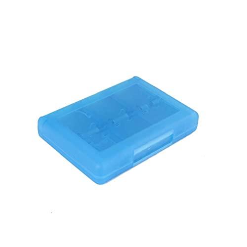 Runfun 28 en 1 Juego Tarjeta Caja Cuadro Titular Cartucho para Nintendo 3DS Juegos Vedio (Azul) Contenedores de Almacenamiento