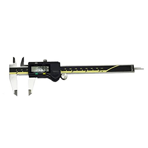 Calibrador digital Vernier, pulgada, métrica, herramienta de calibración de fracción, herramienta de medición digital electrónica de acero inoxidable de 6 pulgadas, pantalla LCD grande 150mm