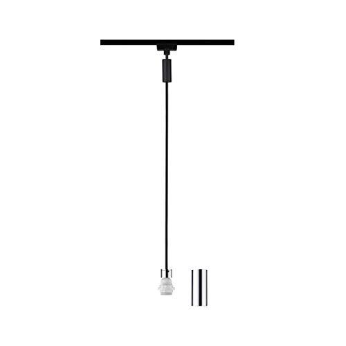 Paulmann 969.19 URail 2Easy Basic Pendel max. 20W E27 Schwarz matt Chrom Metall/Kunststoff