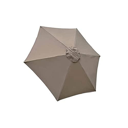 YEVYG Patio Paraguas Canopy Polyester Paño Sol Sombreado Reemplazo UV- Tapa de Dosel Resistente for jardín Camping toldo Gazebo Tienda (Color : Khaki)