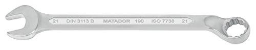 MATADOR 0190 0210 Ringmaulschlüssel, gekröpft, 21 mm