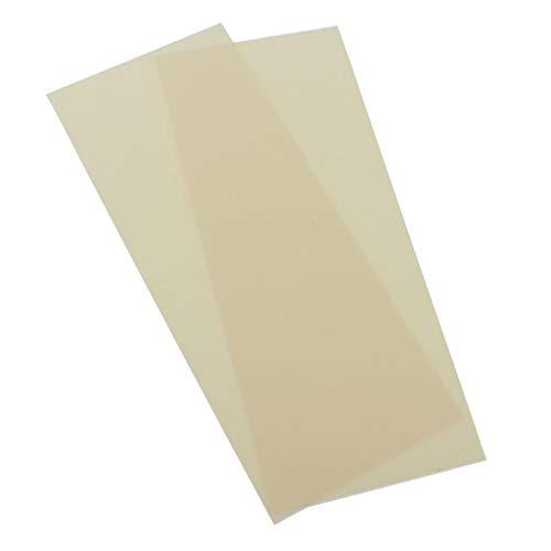 non-brand 2pcs Autocollants Auto-adhésifs de Tissu Imperméable Correctifs DIY - Beige
