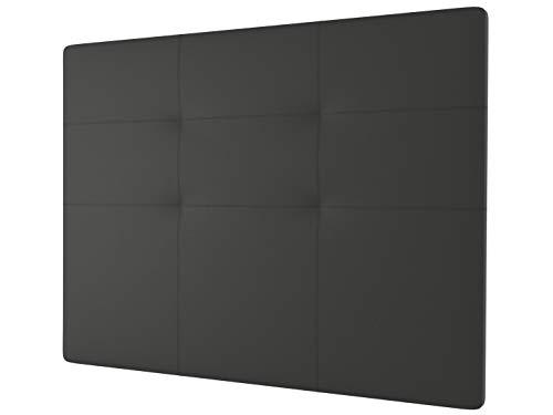LA WEB DEL COLCHON - Cabecero tapizado Andrea para Cama de 80 (90 x 120 cms) Gris Ceniza