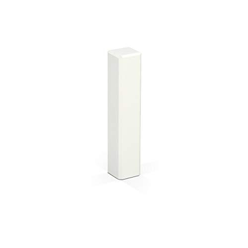 KGM Eckturm weiß 95mm für Sockelleisten | Eckstäbe massiv - Holz Verbinder ✓Endstück ✓Außenecken ✓Innenecken ✓Leisten-Verbinder | Saubere Ecken und Fussleisten Übergänge – ohne Gehrung Schneiden