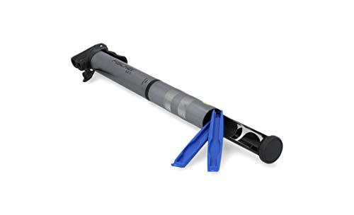 FISCHER Minipumpe inklusive praktischem Reifenflickzeug für alle gängigen Ventile