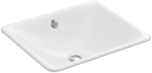KOHLER K-5400-0 Iron Plains Dual-Mount Bathroom Sink, White