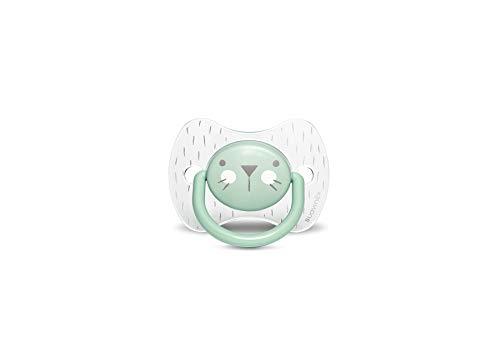 Suavinex 306607 Succhietto con Tettina Simmetrica in Silicone, Da 6 a 18 mesi, Hygge Colore Verde - 30 g