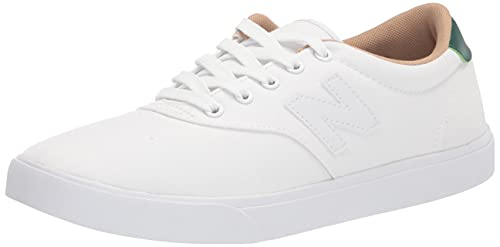 New Balance Men's All Coast AM55 V1 Sneaker, White/Green, 8.5