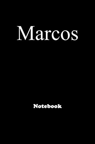Marcos: Personalized Notebook with Custom Name & Cover . College Ruled Journal for men and Boys ,150pages