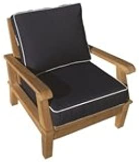 Royal Teak Miami Lounge Chair - Navy with Off-White Piping