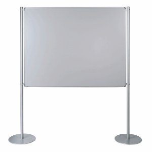Ultradex Stellwand Grundelement 1500x1200mm beidseitig Whiteboard Tellerfuß