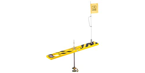 Beaver Dam Ice Fishing Caution Tip-Up in Black/Yellow Finish - Legendary Ice Fishing Tip-Up Built to Last a Lifetime (BDTP-by)