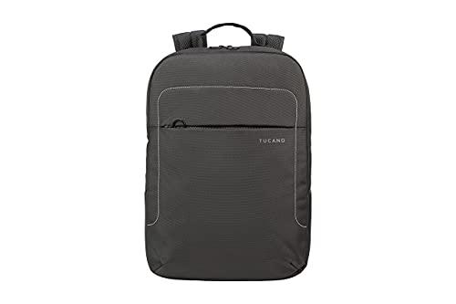 Tucano LUP - Mochila de tela técnica para portátil, MacBook y MacBook - Bolsillo interior acolchado para portátil, tableta o iPad - Bolsillo de seguridad en la parte trasera