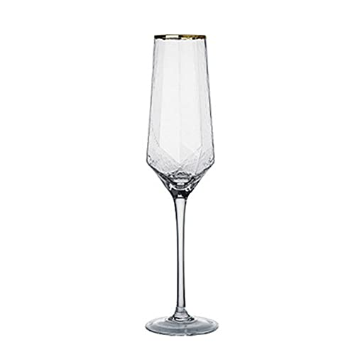 Copas Champan Con Borde Dorado Copas Para Tostar Copas Para Vino Tinto Copa De Whisky De Champán Juego De Vino Vintage,2 packs