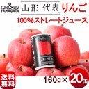 山形代表 りんご 160ml×20本