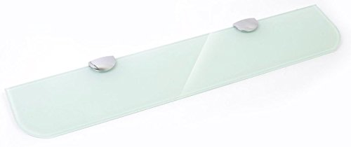 Estante de cristal endurecido blanco de 400 mm x 100 mm de grosor de 6 mm...