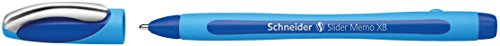 Schneider Slider Memo XB Kugelschreiber (mit Kappe, Strichstärke: XB) blau