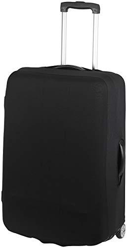 Xcase Kofferschutzhülle: Elastische Schutzhülle für Koffer bis 63 cm Höhe, Größe L, schwarz (Koffer-Schutzüberzug)