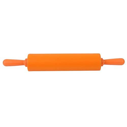 Regun Buntes Silikon-Nudelholz - Buntes Silikon-Nudelholz-Restaurant Hausgemachtes Brot-Keksteig-Rollwerkzeug(orange)