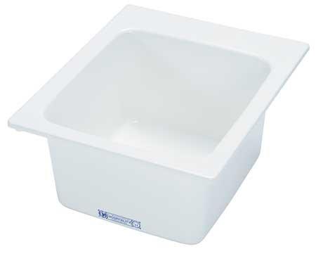 """Drop-In Utility Sink, Fiberglass White, Bowl Size 20"""" x 17"""""""