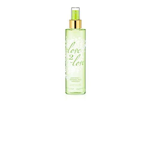Love 2 Love Jasmine Plus Sparkling Mimosa Fragrance Mist for Her, 240 ml
