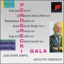 Penderecki Gala: Flute Concerto; Sonata for Violin and Piano; Benedicamus Domino; Sinfonietta for Strings; Lacrimosa; Song of Cherubim; Clarinet Quartet by JOHANNES BRAHMS