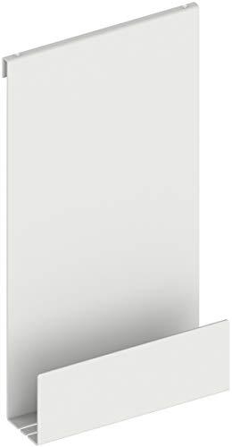 KEUCO Duschablage aus Aluminium, weiß, mit abnehmbarem Korb, Handtuchhaken und Ablaufschlitzen, 32x60x12cm, zum Einhängen in der Dusche