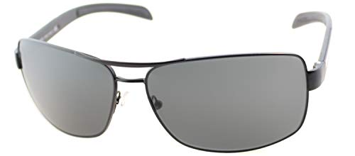 Prada Sport 0PS54IS 1BO1A1 65 Occhiali da Sole, Nero (Black Rubber/Grey Polarized), Uomo
