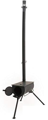 LandField ランドフィールド 折り畳み式 薪ストーブ アウトドアコンロ 屋外 焚き火台 バーベキュー コンパクト 車載 BBQ 暖房 調理 収納バッグ付き 火の粉止め かまど 煙突 アウトドア 防災用品 電気不要 テント 角型ストーブ 暖炉 薪暖炉