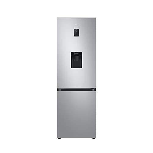 Samsung RB7300 Kühl-/Gefrierkombination RL34T653DSA/EG / 185 cm Höhe / 341 Liter / Edelstahl Look / No Frost+ / Space Max / Wasserspender
