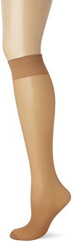 Pretty Polly Damen Medium Support Knee Highs 2pp Kniestrümpfe, 15 DEN, Beige (Nude Nude), One Size (Herstellergröße: OS) (3er Pack)