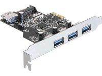 Delock PCI Express Karte 3 x extern 1 x intern USB 30 Typ A Buchse