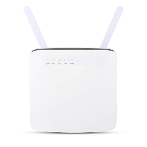 WiFi-router, snelle krachtige router met 300 Mbit/s Uitstekende ondersteuning voor LTE Advanced (CAT6) -router 64-gebruikers simkaart CPE Wireless 4G-router (EU)