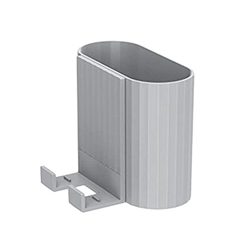 Organizador montado en la pared Caja de almacenamiento Control remoto Aire acondicionado Caja de almacenamiento Soporte de enchufe para teléfono móvil Soporte Contenedor Rack 1PC-Gris
