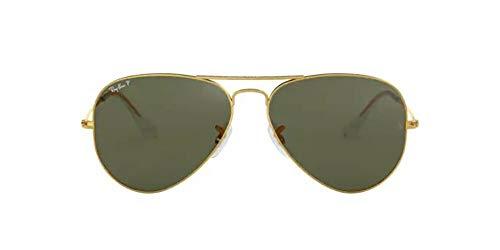 Óculos De Sol Ray Ban Aviator Polarizado Rb3025L 001/58-58