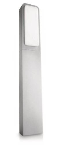Philips 169168716 Ecomoods Borne d'éclairage en plastique résistant aux UV, avec ampoule à faible consommation d'énergie