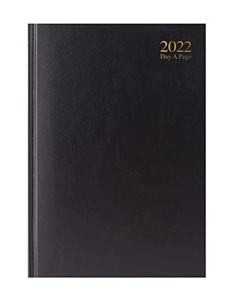 Page Diary 2022 day to day Early Edition organiser planner black Navy Red A5 or A4 Day to School Year Planner Hardback (A5, black)
