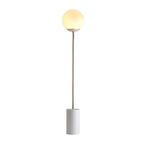 Lampadaires européens en fer, boule de verre LED créative allumant un lampadaire vertical minimaliste moderne chambre d'étude canapé canapé lampadaire nordique, lampes de plancher de chevet, noir, bla