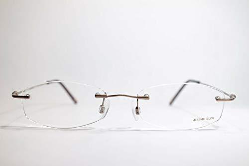 Alain Afflelou PEM224 C52 49[]18 140 bruin randloos brilmontuur bril NIEUW