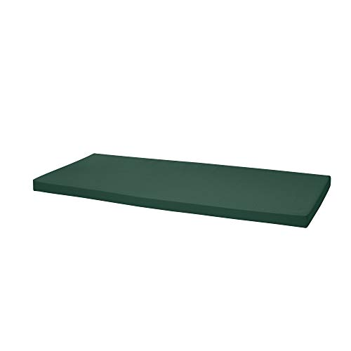 Waterproof Garden Bench Outdoor Pad 108x45x4cm | Patio Furniture 2 Seater Cushion | Water Resistant Material | Chaise Swing Chair Cushion |Indoors Seat Pads | Dark Green