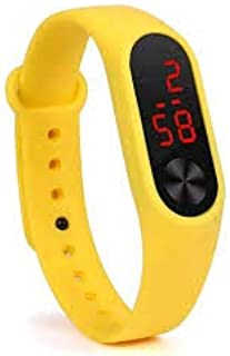 Ismartly Store Latest Arrival M2 Led Yellow Band Digital Display Wrist Watch for Boys & Girls