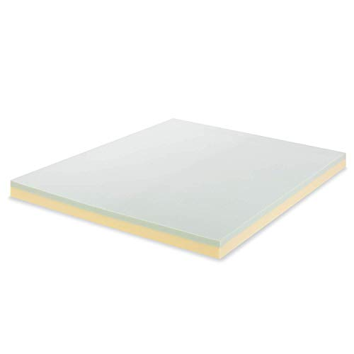 Zinus 7.6cm Green Tea Memory Foam Mattress Topper Double