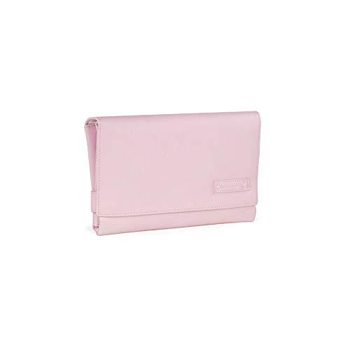 Pasito a Pasito. Bolso Cambiador para Bebé Portátil Essentials. Formato plegable, cómodo, ideal para cambiar a tu bebé donde sea. Eco-leather Color Rosa. Medidas 52 X 71 X 1 cm.